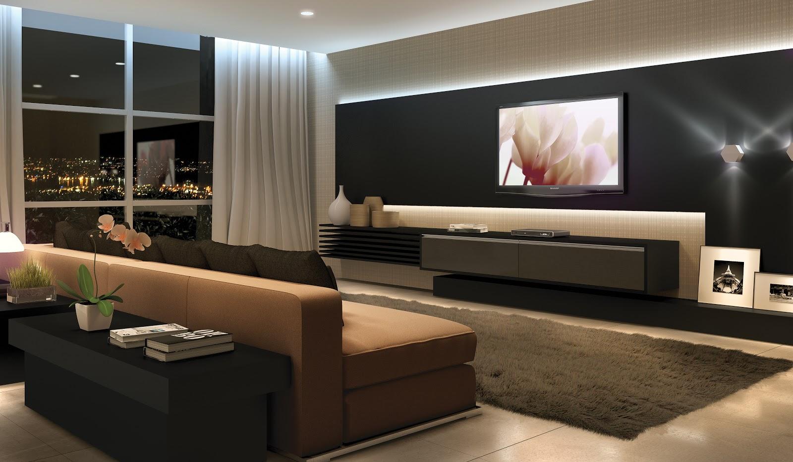 30 tipos de moveis sob medida para sala for Sala grande