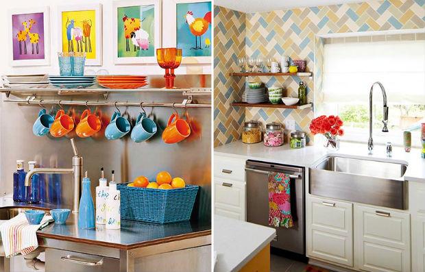 cozinha pequena decorada com utensilios