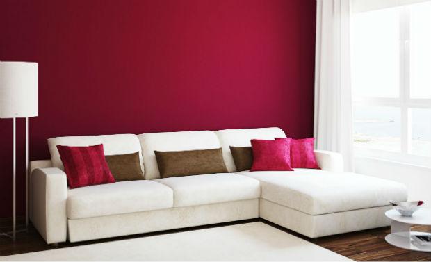 sala pequena decorada parede pintada