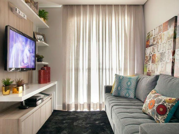 Casas decoradas 20 fotos de casas pequenas decoradas for Salas modernas para casas pequenas