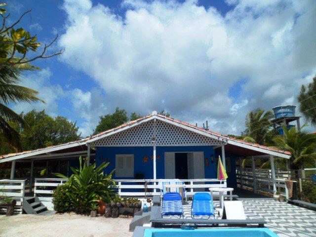 Casa de praia azul