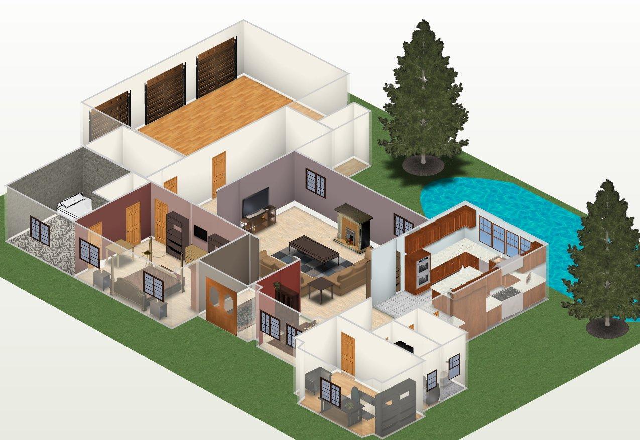 Casas 3d Of Plantas De Casas Prontas Em 3d 30 Modelos