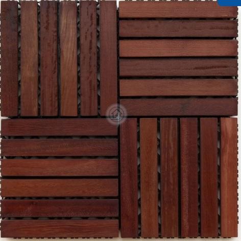 Deck Modular Isabela Com Base Plástica 30cm x 30cm (Placa) Madeira de lei Mista