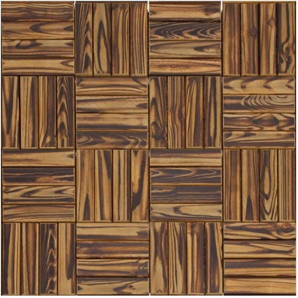 Deck Modular de Madeira Pinus com Base Plástica 30cm x 30cm Incolor