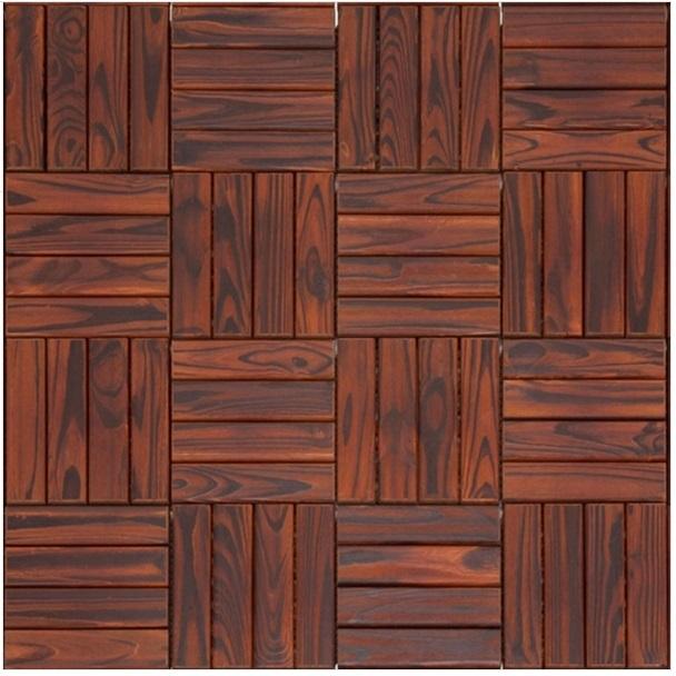 Deck Modular de Madeira Pinus com Base Plástica 30cm x 30cm Ipê