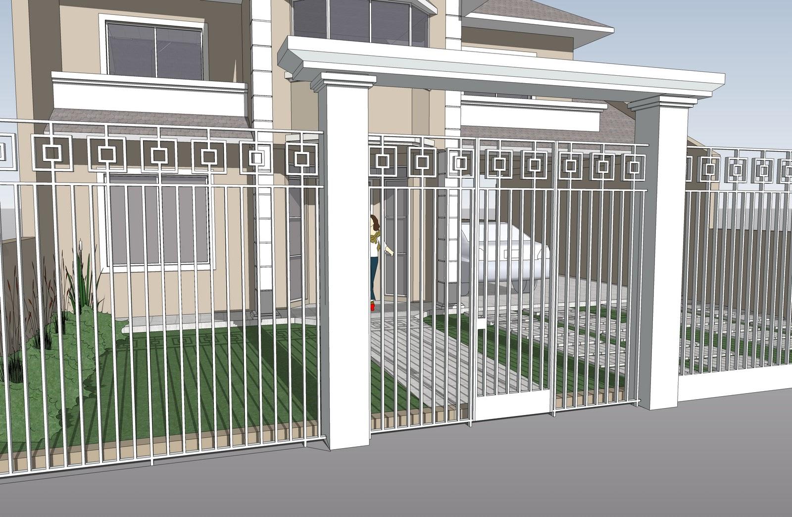 5 modelos de grades para casas - Antejardines pequenos fotos ...