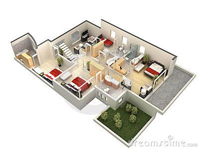 Planta 3D de casa