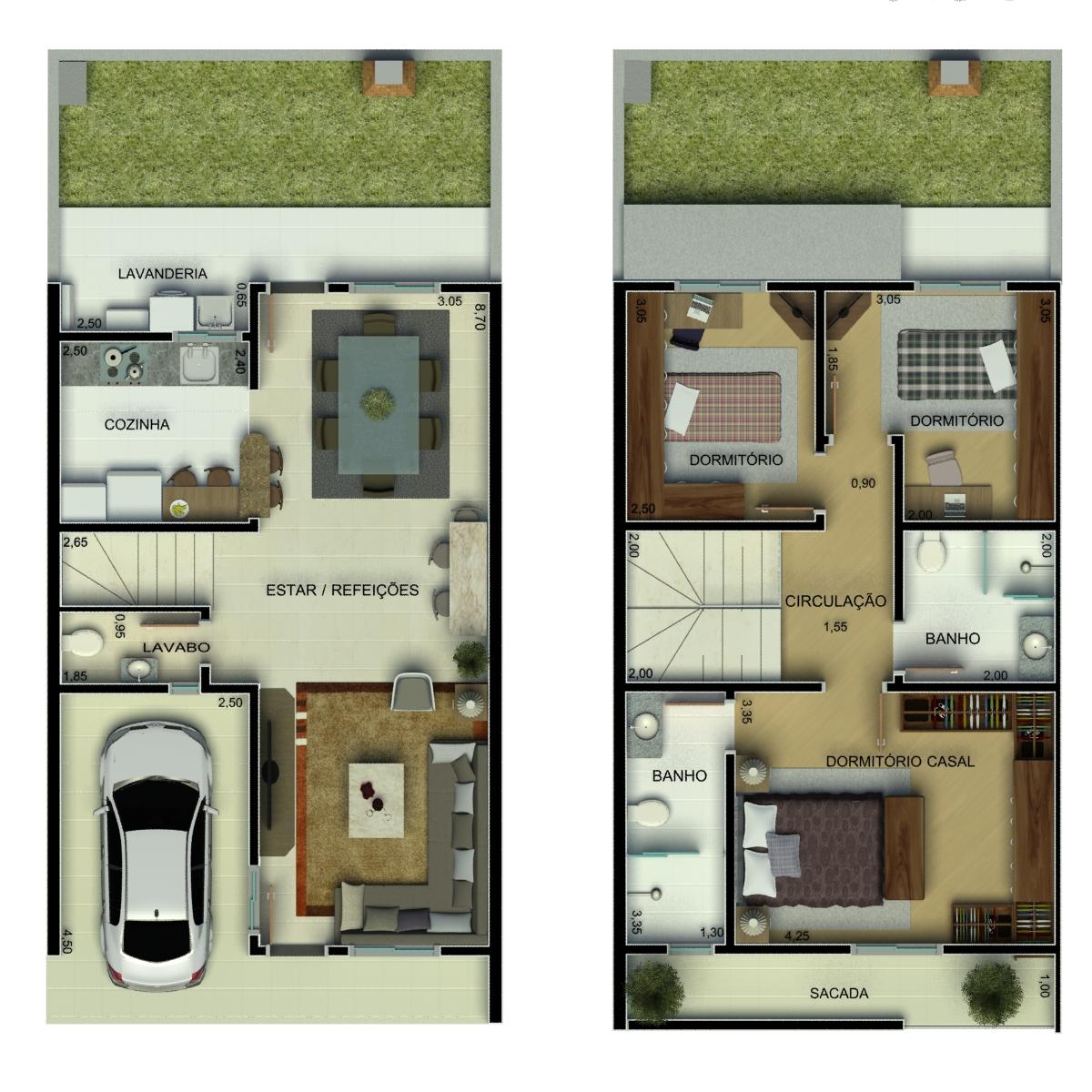 10 plantas de casas até 75 mil