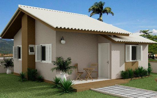 casa de praia de alvenaria moderna