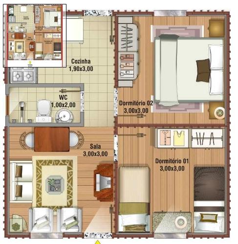 6 Modelos De Plantas De Casas At 65m2