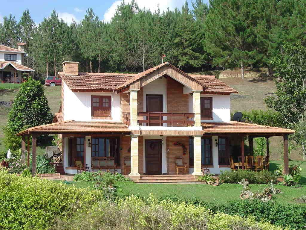 Casas de campo decoradas 15 modelos - Fachadas casas de campo ...