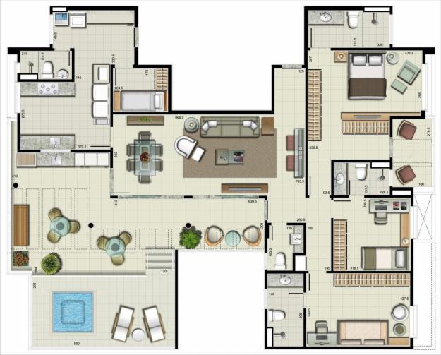 5 modelos de plantas de casas para 2018 for Modelos de casas grandes