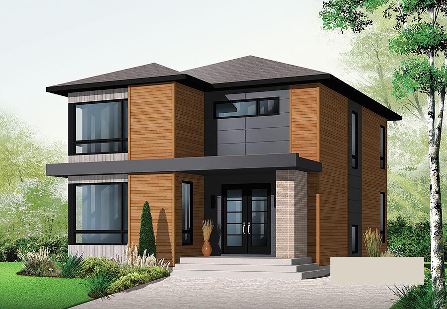 10 modelos de fachadas de casas baratas for Casa moderna baratas