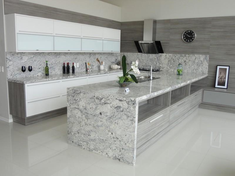5 modelos de mármores para cozinha # Bancada De Cozinha Granito Branco