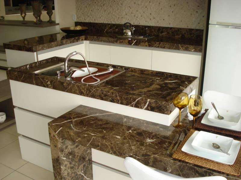 5 modelos de mármores para cozinha -> Armario De Banheiro Com Tampo De Granito