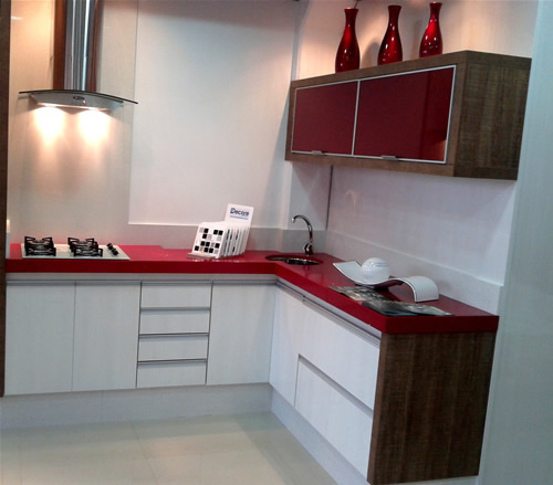 Mármore para cozinha vermelho