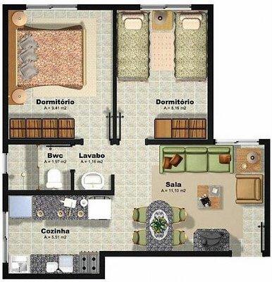 5 modelos de plantas de casas populares