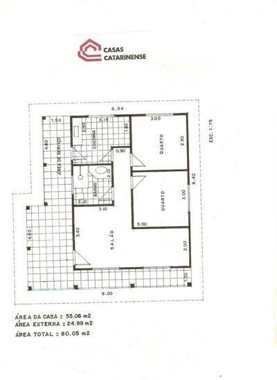 Plantas de casas com 80 m2