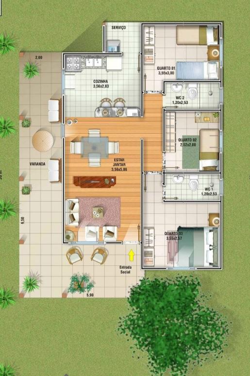5 plantas de casas at 120m2 - Precio proyecto casa 120 m2 ...