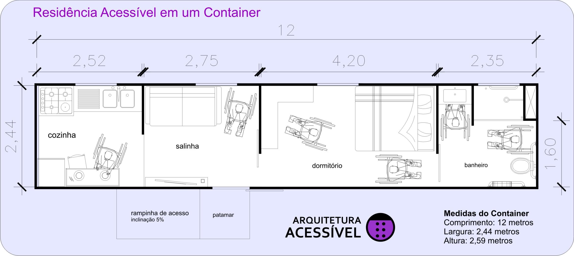 tipos de plantas de casas para cadeirantes #8223A8 2350 1049