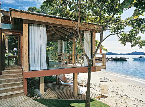 Fachada para casa de madeira