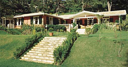 Madeira na fachada de casa