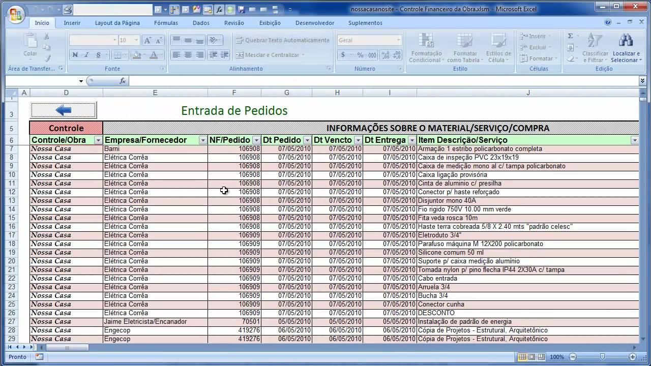 Planilha de controle de obra: Modelos, como fazer