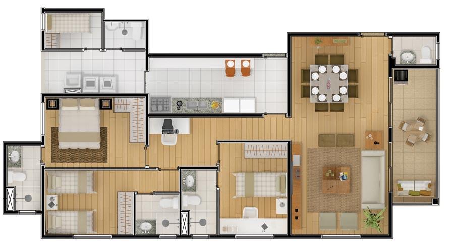 5 plantas gr tis de ch caras for Casas modernas de 70m2
