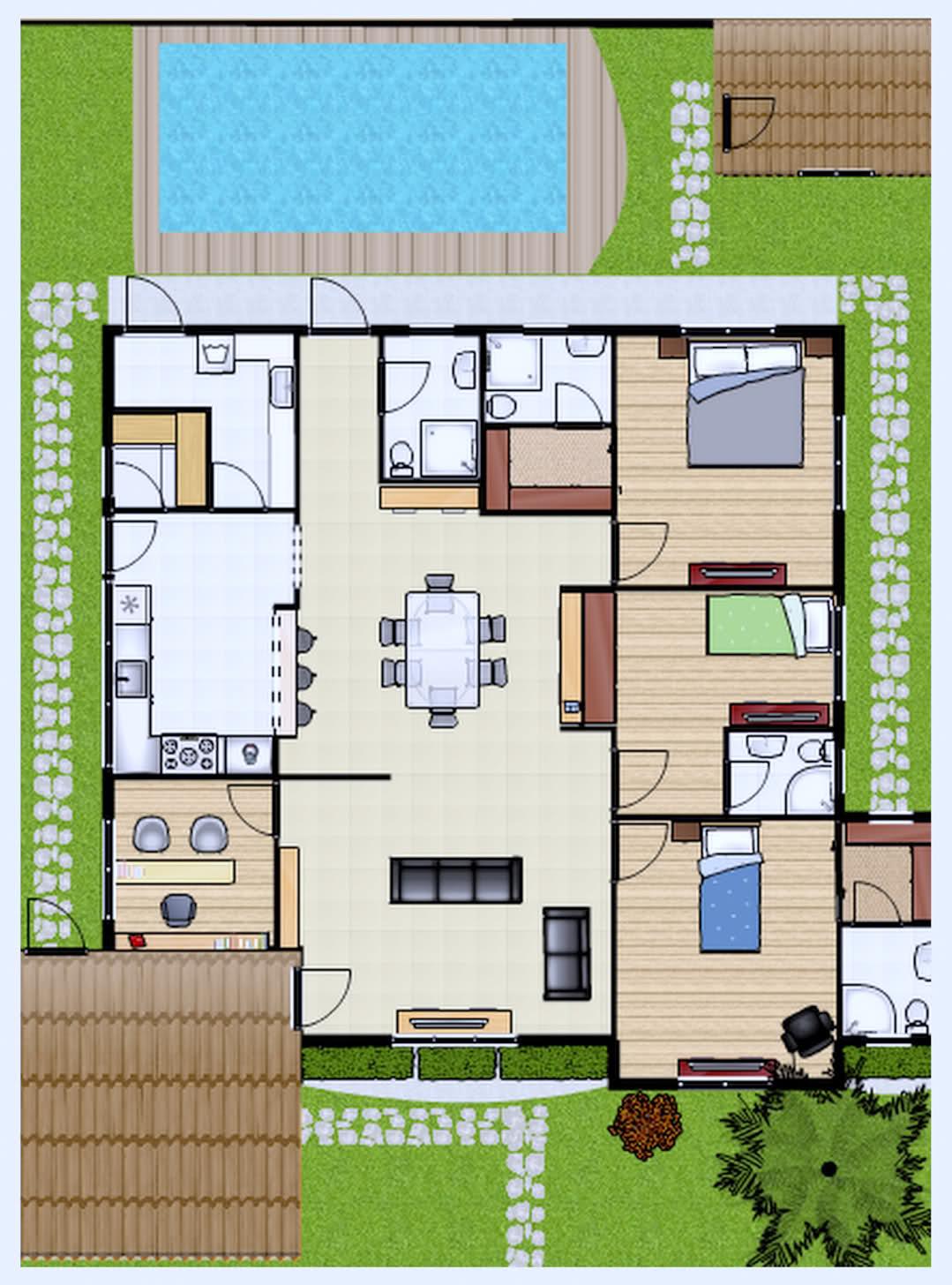 de casas até 65m2 Plantas de casas até 60m2: 3 modelos Projetos de  #1886B3 1079 1456