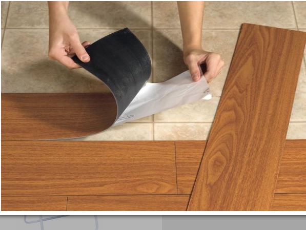 Modelos de adesivos que imitam pisos