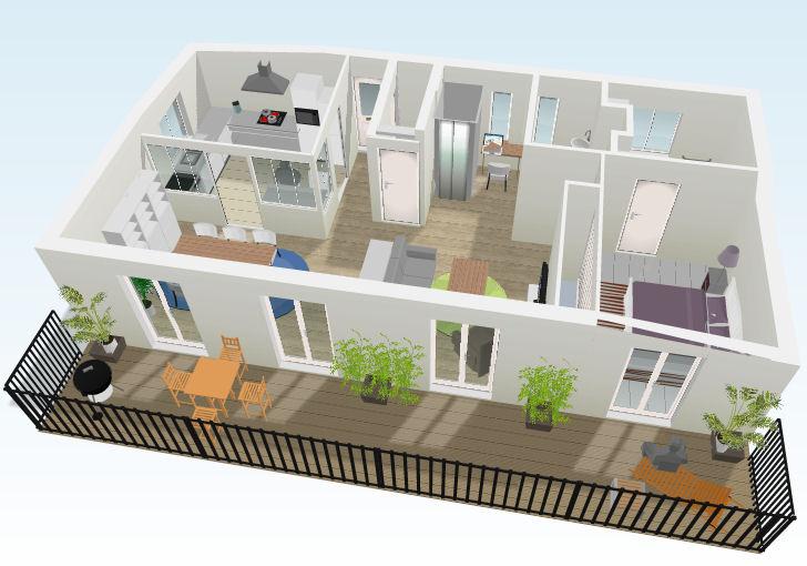 Casa em 3D planta casa grande