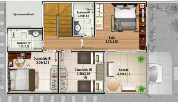 Casa para sítio 14