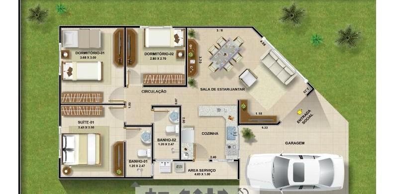 Casa para sítio 15