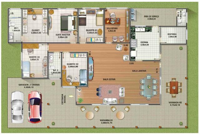 Casa para sítio 3