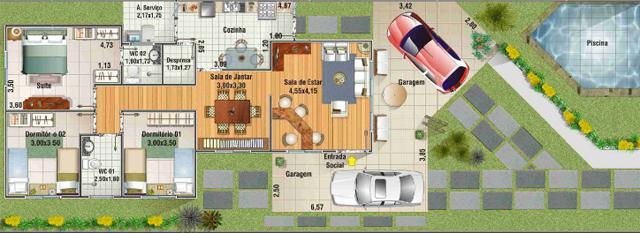 Casa para sítio 4