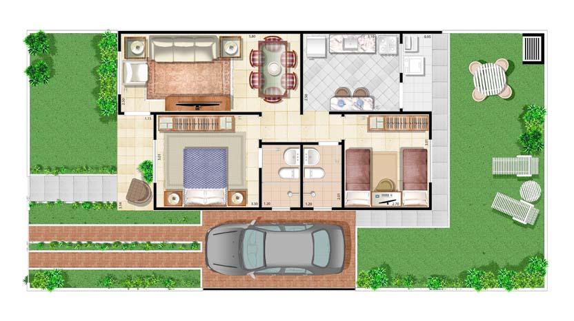 Casa para sítio 5
