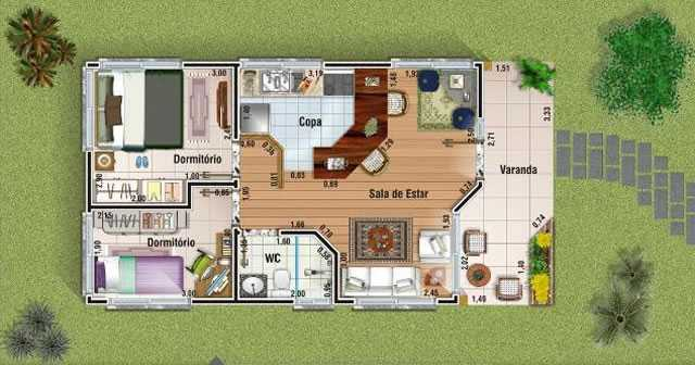 15 modelos de plantas para sitios - Modelos de casas de campo pequenas ...