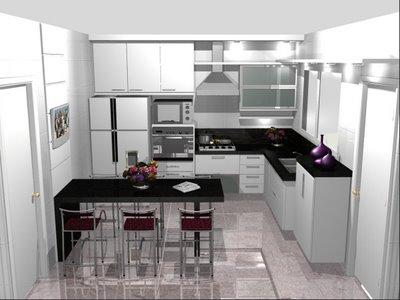 Logo abaixo temos mais modelos de cozinhas pequenas para quem não