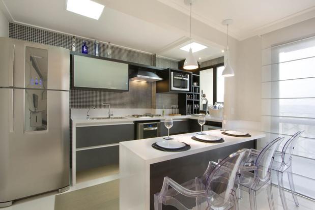 15 tipos de modelos de cozinhas pequenas for Modelos de cocinas modernas americanas