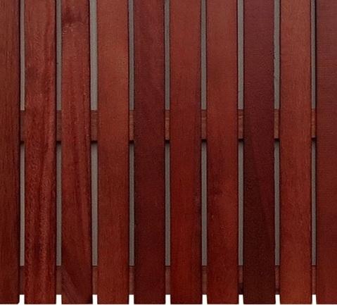 Deck de Madeira Modular Isabela Envernizado 50cm x 50cm (Placa) Madeira de lei Mista