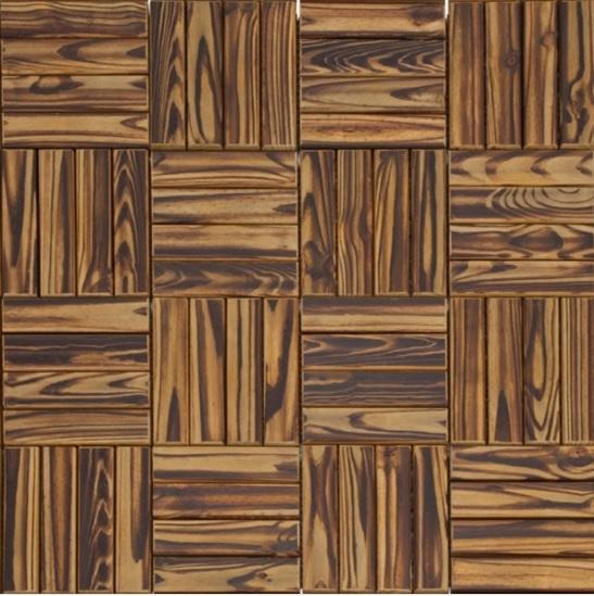 Deck de Madeira Modular Pinus com Base Plástica 30cm x 30cm Incolor