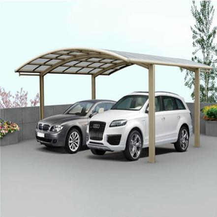 Garagem em policarbonato para dois carros 2