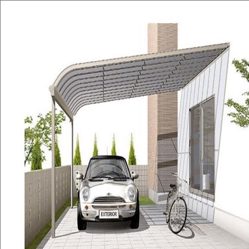 Garagem em policarbonato para lateral