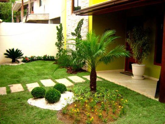 fotos jardins pequenos residenciais:Modelos De Jardins Residenciais