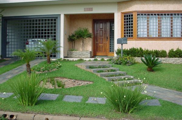 Modelos de jardins residenciais para frente de casa Ideas para muros de jardin