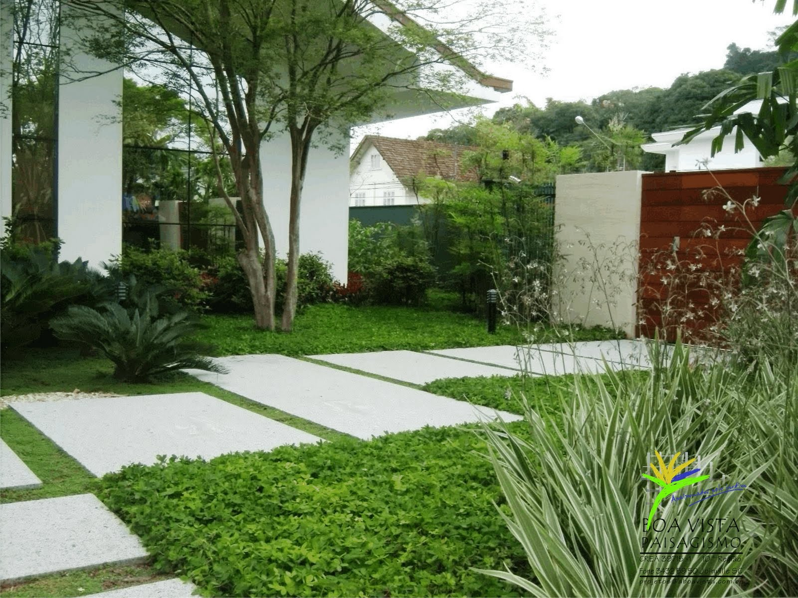 decoracao jardim residencial:Jardim Residencial Sem Muro Pictures to pin on Pinterest