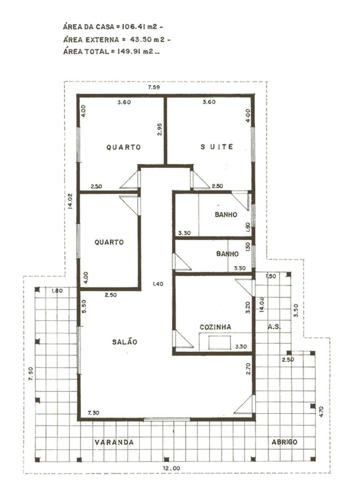 Plantas de casas modelos planta baixa projetos for Plantas minimalistas