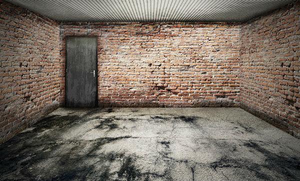 piso de garagem rústico