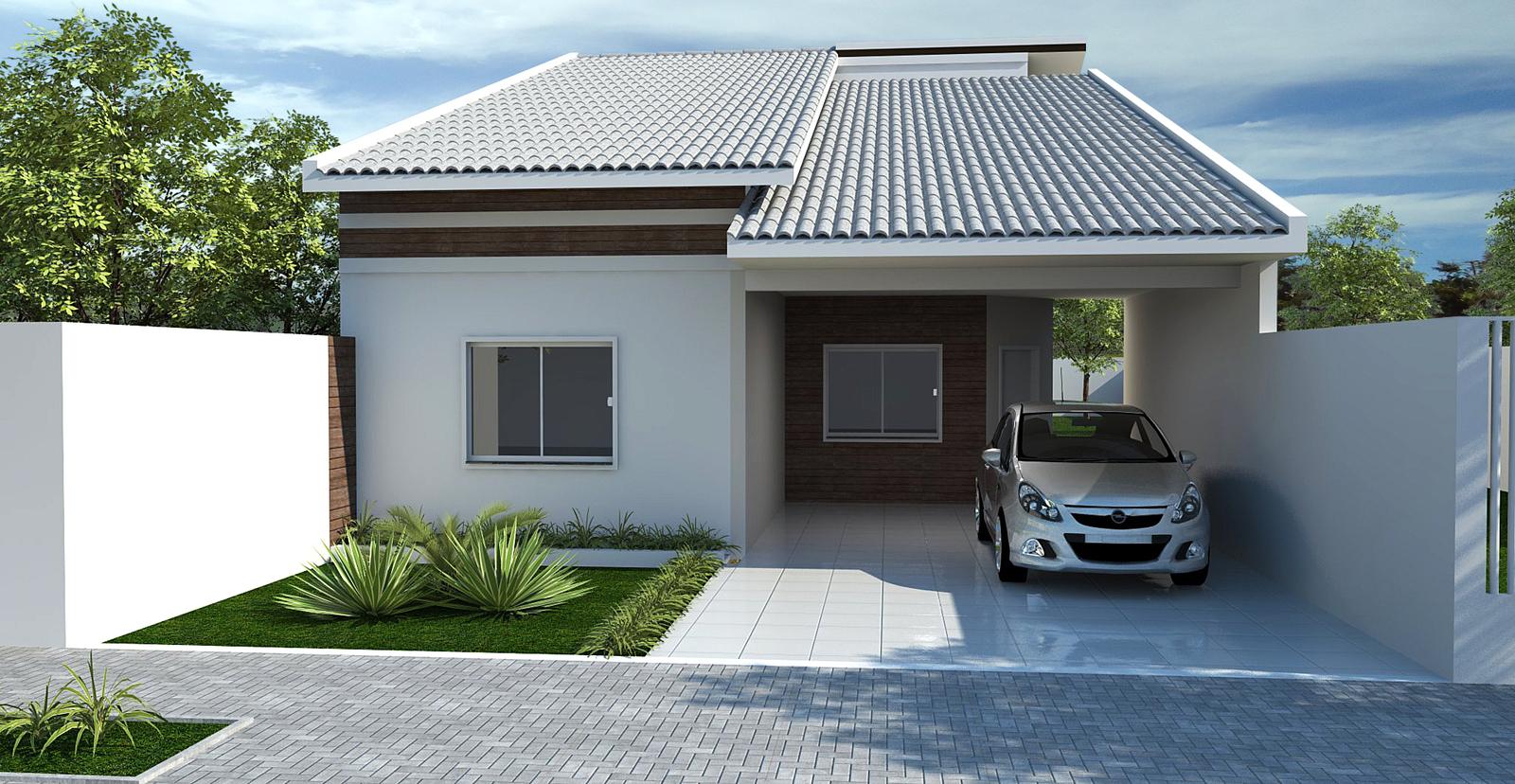 10 modelos de fachadas de casas baratas Casas pequenas con porche