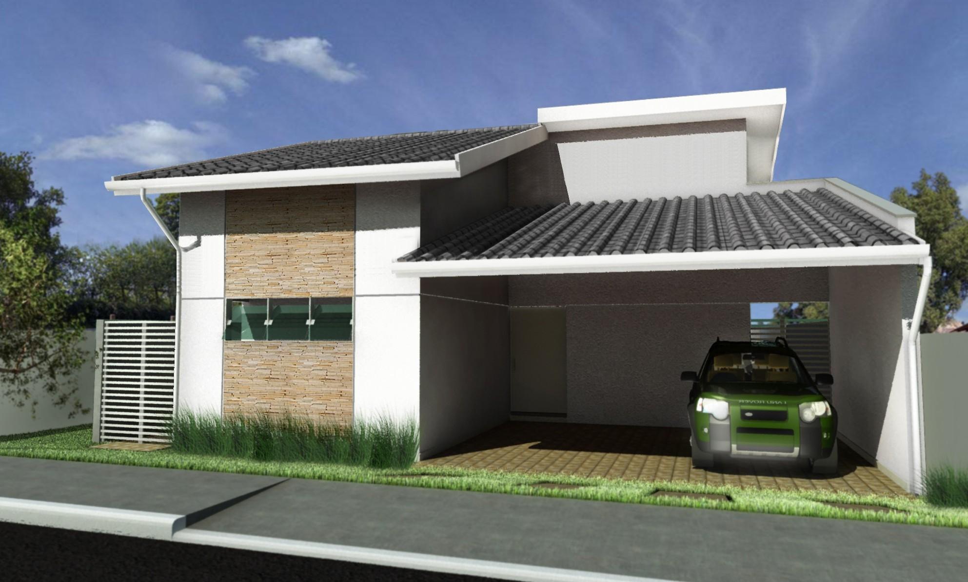 10 modelos de fachadas de casas baratas for Fachada de casas